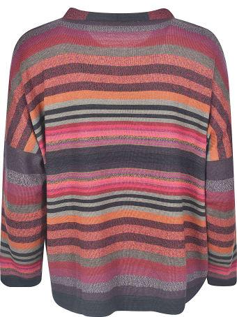 De Clercq Stripe Pattern Ribbed Sweater