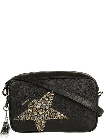 Golden Goose Star Bag Hammered Leather Body Studded Star