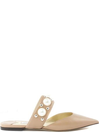 Jimmy Choo Rose Nappa Leather Flat Shoes