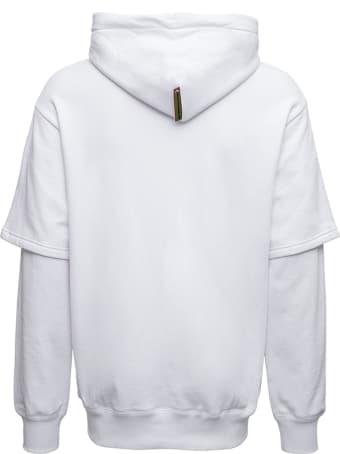 Evisu White Cotton Evisu X Sfera Ebbasta Hoodie  With Logo
