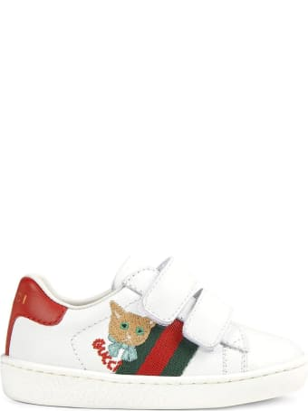 Gucci White Leather Toddler Ace Sneaker