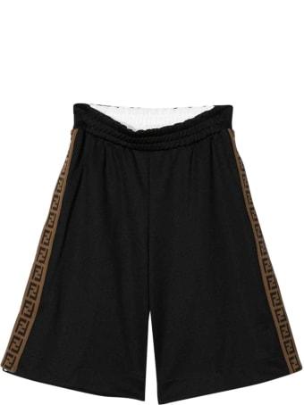 Fendi Black Bermuda Shorts