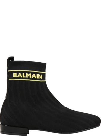 Balmain Black Boots For Girl
