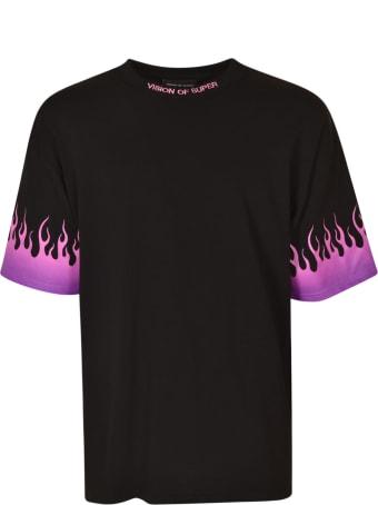 Vision of Super Flame Effect Logo T-shirt