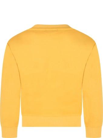 Australian Yellow Sweatshirt For Boy With Logo