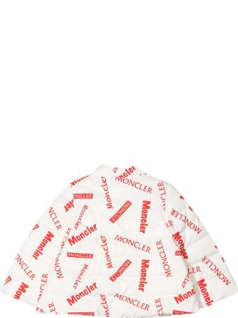 Moncler Logo Print Down Jacket