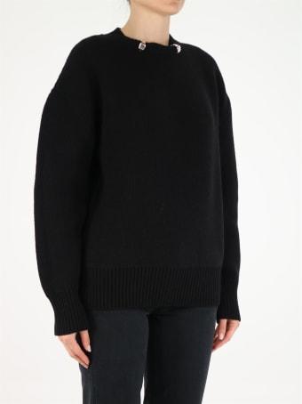 Bottega Veneta Crewneck Sweater With Metallic Inserts