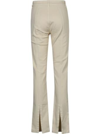 Federica Tosi Rear Slit Plain Jeans