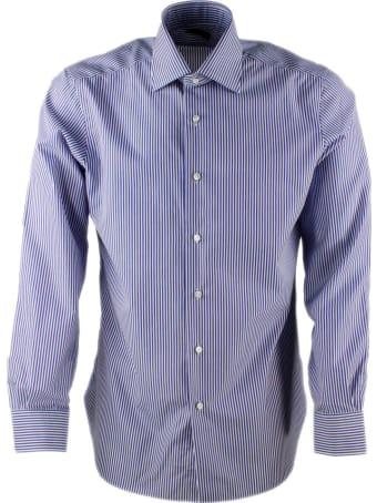 Barba Napoli Men's Slim Fit Journey Model Shirt With Hand-sewn Striped No Crumple Fabric