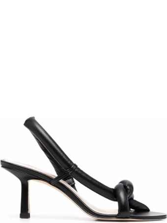 Studio Amelia Tubular Pretzel Sandals In Black Leather