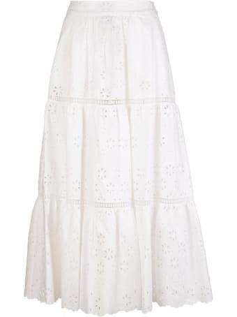 Parosh Embroidered Midi Skirt
