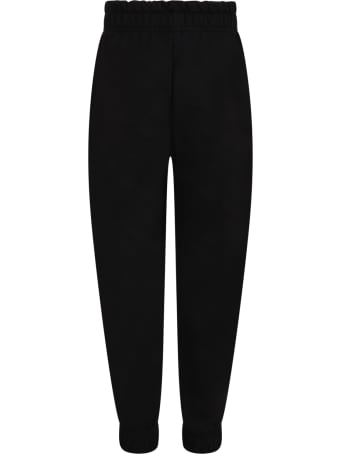 IRENEISGOOD Black Sweatpant For Girl With Writings