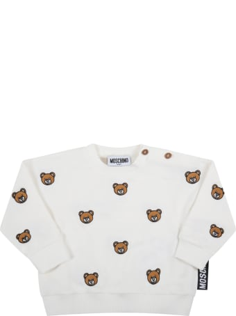 Moschino White Tracksuit For Baby Kids