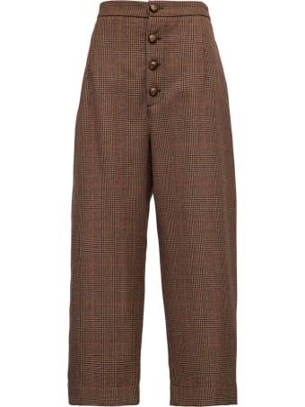 Jejia High Waisted Brown Wool Pants
