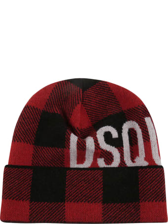 Dsquared2 Icon Patch Knit Beanie