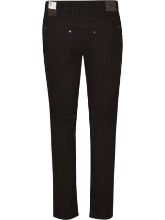 Michael Kors Logo Patched 5 Pockets Slim Jeans