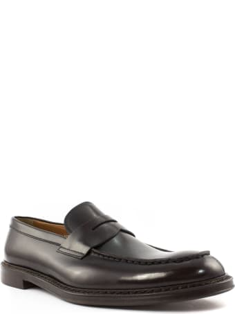 Doucal's Brown Leather Penny Loafer