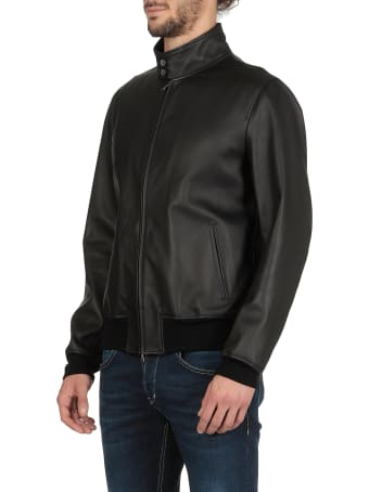Stewart Studded Smooth Leather Jacket