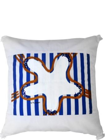 Le Botteghe su Gologone Acrylic Hand Painted Outdoor Cushion 60x60 cm