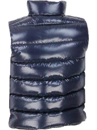 Moncler Tib Sleeveless Gilet In Real Goose Down With Zip And Button Closure