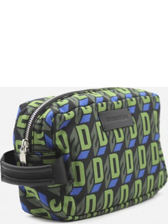 Dsquared2 Beauty Case With All-over Monogram Print