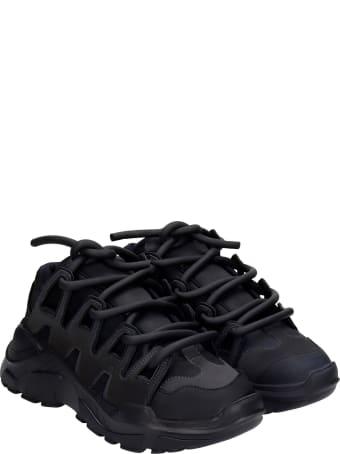 Gienchi Ozzy Sneakers In Black Rubber/plasic