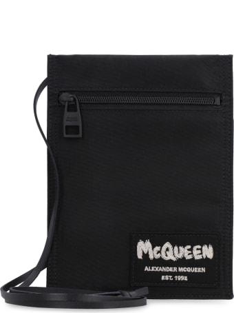 Alexander McQueen Logo Print Flat Pouch