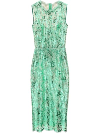 Dolce & Gabbana Knee-lenght Dress With Laminated Lace