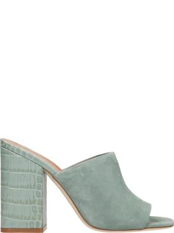 Paris Texas Milano Sandals In Green Suede