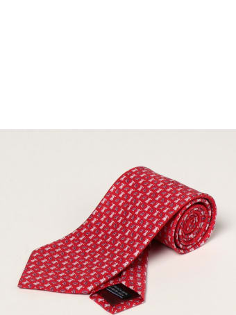 Salvatore Ferragamo Tie Salvatore Ferragamo Silk Tie With Micro Dogs And Rings