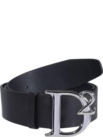 Dsquared2 D2 Buckle Logo Belt