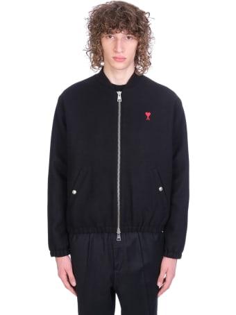 Ami Alexandre Mattiussi Casual Jacket In Black Wool