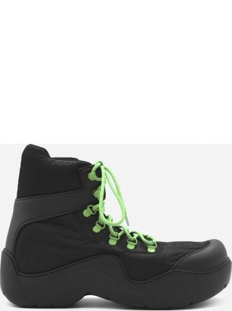 Bottega Veneta Puddle Bomber Boots In Technical Fabric
