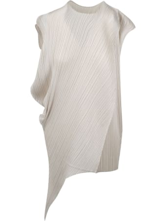 Pleats Please Issey Miyake Pleated And Asymmetric Dress