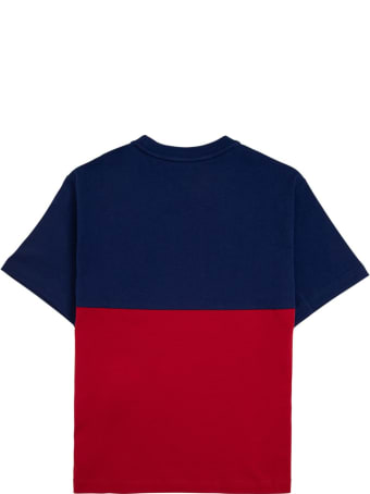 Emporio Armani Bicolor Cotton T-shirt With Logo Print