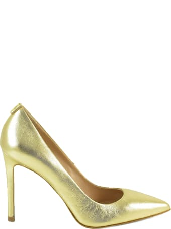 Patrizia Pepe Gold Laminated Leather Pumps