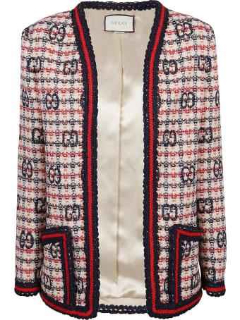 Gucci Gg Fancy Tweed Cardigan