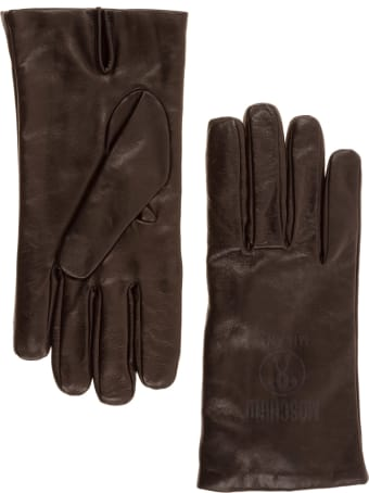 Moschino Double Question Mark Gloves