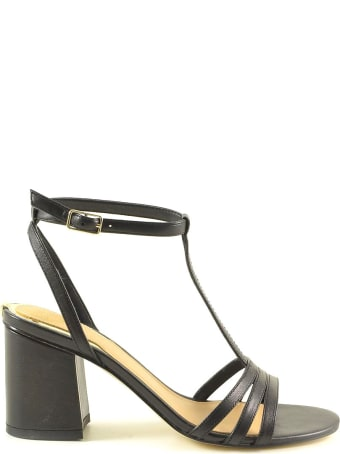Guess Black Leather High Heel Sandals