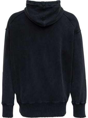Givenchy Black Oversize Jersey Hoodie With Print