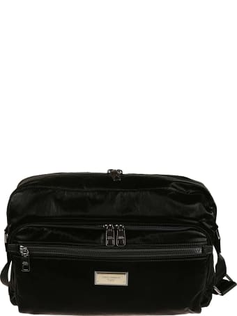 Dolce & Gabbana Two-way Zip Logo Plaque Shoulder Bag