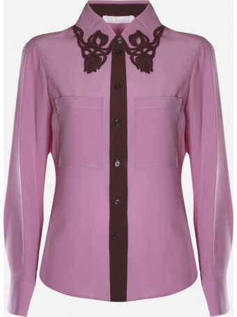 Chloé Silk Shirt With Embroidered Cut-out Detail