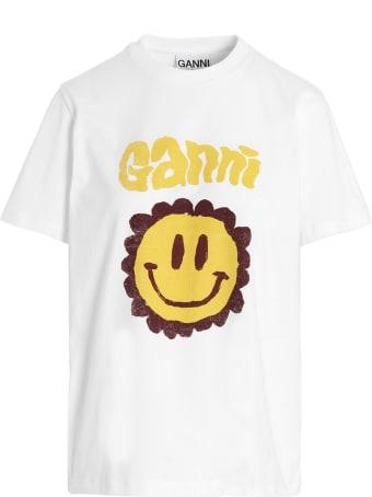 Ganni 'smiley' T-shirt