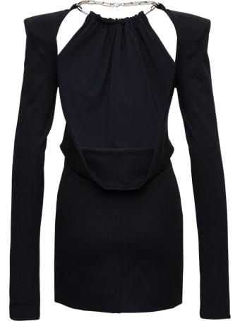 The Attico Viscose Blend Mini Dress With Chain Detail