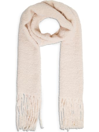 Forte_Forte Off White Alpaca Blend Scarf With Fringes
