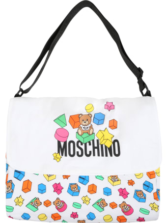 Moschino White Bag For Babykids