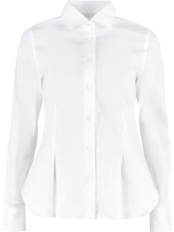 Barba Napoli Long Sleeve Cotton Blend Shirt