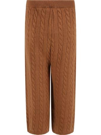 Blumarine Brown  Trouser For Girl