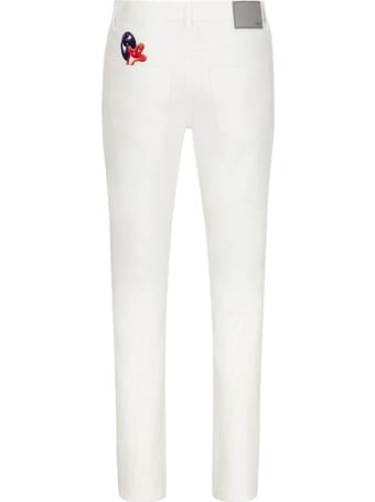 Dior Homme Jeans In White Cotton