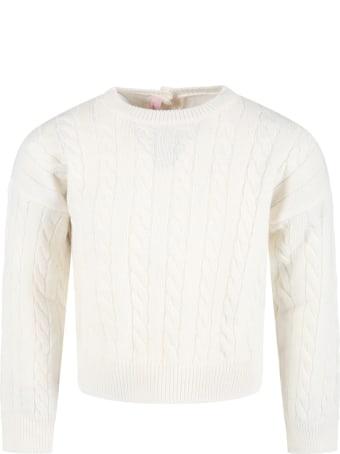 Blumarine Ivory Sweater For Girl